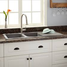 Granite Kitchen Sink 46 Owensboro Double Bowl Drop In Granite Composite Sink With