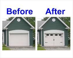 Carriage House Style Vinyl Garage Door Decal Kit Faux Windows ...