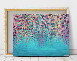 abstract canvas print large wall art acrylic painting abstract canvas art abstract art large abstract canvas wall art impressionist painting on large wall art teal with large wall art etsy