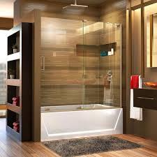 semi frameless sliding tub door