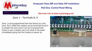 how to wire a honeywell security system, vista 15p and vista 20p Honeywell Zone Valve Wiring Diagram how to wire a honeywell security system, vista 15p and vista 20p youtube