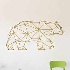 geometric bear wall decal on geometric bear wall art with willdesign geometric bear wall decal wall decal wallart web