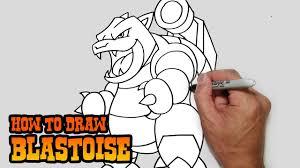 How To Draw Blastoise Pokemon Youtube