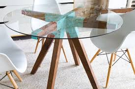 Glass Kitchen Tables Round Round Dining Table Etsy