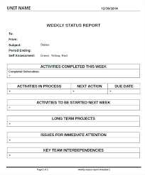 Project Status Reporting Project Status Reporting Template Report Sample Weekly Images Of