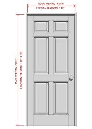 Lovely Standard Bedroom Door Size