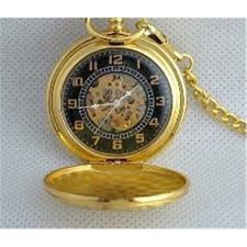 mwf1442 classic mens gold pocket watch chain