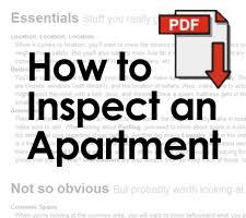 Apartment Inspection Checklist Jump Off Campus