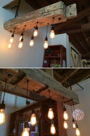 Rustic Wood Light Fixtures Rustic Reclaimed Wood Light Fixture Farmhouse Dining Room