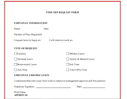 pto request template 10 time off request form templates excel templates
