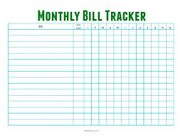 Awesome Bill Payment Tracker Template Documents For Tracking
