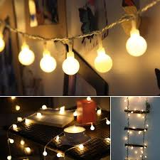 Alderbrook Lights Globe String Lights 2 In Bulbs 50 Ft White Wire Outdoor