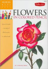 drawing made easy flowers in colored