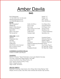 Sample Acting Resume With No Experience Ideas Of Child Acting Resume No Experience Best Actor Template Free 21