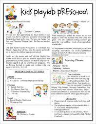 13 Printable Preschool Newsletter Templates Free Word