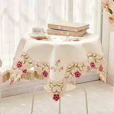 side tables side table cloth luxury embroidered fabric lace wedding home oblong tablecloth cover with