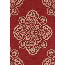 home depot outdoor carpet best of medallion red 5 ft x 7 ft indoor outdoor area