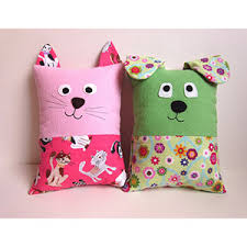 Pillow Sewing Patterns Awesome My Funny Buddy Dog And Cat Pillow Sewing Pattern Girl Charlee