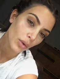 kim started her insram live makeup tutorial the only way she could by not wearing an ounce of makeup on her face