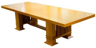 frank lloyd wright taliesin l dining table by cassina