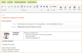 Receipt Email Template Customizing Receipts Wild Apricot Help
