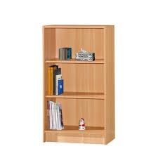 hodedah 3 shelf 35 in h beech bookcase