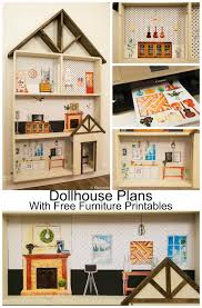 diy dollhouse furniture. Kids DIY ; Free Dollhouse Building Plans With A HUGE Set Of Furniture Printables And Instructions Diy O
