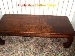 koa coffee table x vintage koa coffee table