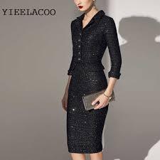 Red <b>plaid tweed</b> dress 2019 spring / autumn <b>women's</b> dress fashion ...