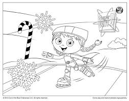 Small Picture Super Why Coloring Page Wonder Red Ice Skating Happy Holidays