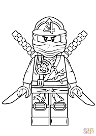 Lego Ninjago Coloring Pages Lego Ninjago Green Ninja Super Coloring