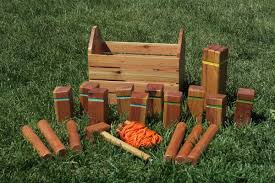 Lawn Game With Wooden Blocks Kubb pronounced koob is a lawn game where the object is to 19