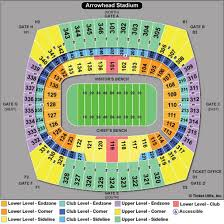 Invesco Field Seating Chart Club Level 76 Exhaustive Seating Chart For Arrowhead Stadium
