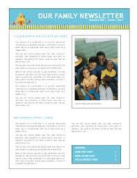 family newsletter family newsletter
