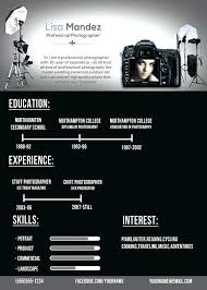 Photographer Resume Template New Photographer Resume Template Professional Photographer Professional