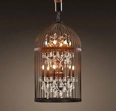 birdcage chandelier restoration hardware for