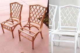 painting rattan furnituresarah m dorsey designs Refinishing Rattan Chairs  Tutorial