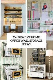 creative home office wall storage ideas cover
