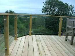 glass deck railing s g no top rail systems calgary cost