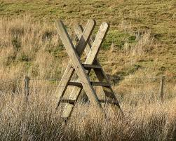 england style steps: another style of a fence stile