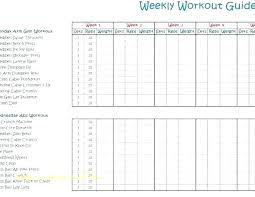 Gym Exercise Planner Workout Planner Template Arttion Co