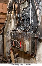 fuse fire stock photos fuse fire stock images alamy a fusebox in a house which caught fire due to a power surge stock