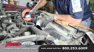 how to install a water pump 2002 97 ford f 150 4 6l, 5 4l v8 wp 2000 F350 Water Pump Diagram how to install a water pump 2002 97 ford f 150 4 6l, 5 4l v8 wp 9097 aw4122 2000 ford f350 water pump replacement
