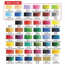 Gansai Tambi Color Chart Kuretake Gansai Tambi Solid Watercolors 48 Color Set