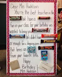 candy bar card for the teacher