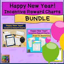 Happy New Year Incentive Reward Sticker Charts Bundle