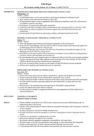 Specialist Consultant Resume Samples Velvet Jobs