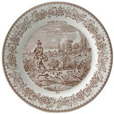 Patterned Dinnerware Fascinating Gien France Assiettes A Themes Dinnerware Gracious Style