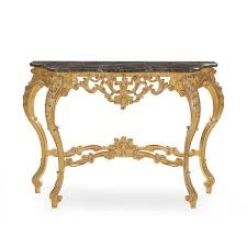 classic style wood console table selene tables baroque and marble sevense iron moroccan design half toronto powell behind sofa modern foyer strut antique