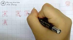 Cách viết chữ k thường và hoa theo chuẩn kẻ ô ly - Luyện chữ đẹp